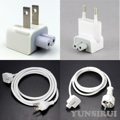 EU/US Power Charger Extension Cable Cord Adapter for Apple MacBook Pro Air