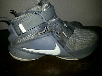 b528d5881430c NIKE BOYS YOUTH 5 gray Lebron Soldier IX Sneakers 776471-003 shoes ...