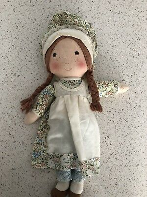 Holly Hobbie's hobbie  Friend Heather Rag doll. Vintage. VGUC