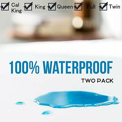 WATERPROOF MATTRESS COVER Hypoallergenic Bed Pad Protector King Queen Full Twin~