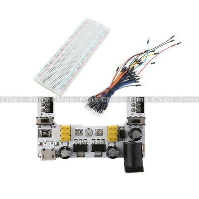 Solderless MB102 Power Supply Module 830 PCB Breadboard+65PCS Jump Cable Wires