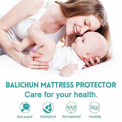 Premium Terry Cloth Hypoallergenic Waterproof Breathable Mattress Protector NEW