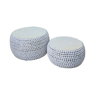 Modern Marble Top Coffee Table Ex Display Round Shape Living Room