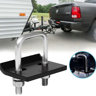 Vehicle Anti Rattle Hitch Bracket Ball Mount Tongue Tow Bar Trailer Camper