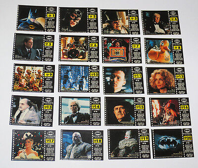 20x BATMAN RETURNS FULL SET STICKERS BASE STICKER SET DYNAMIC TRADING CARDS