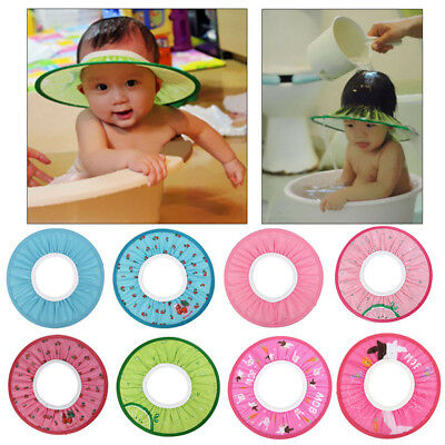 Kids Toddler Baby Bath Hat Shower Shampoo Visor Hat Wash Hair Shield Cap Elastic