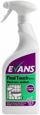 Evans Final Touch Bactericidal Washroom Cleaner Spray 750ml