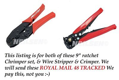 Ratchet Crimping  Set & AUTO Wire stripper, Crimp FREE TRACKED POSTAGE UK SELLER