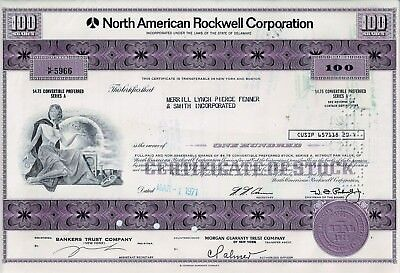 North American Rockwell Corporation, 1971 (100 Shares Pref.)