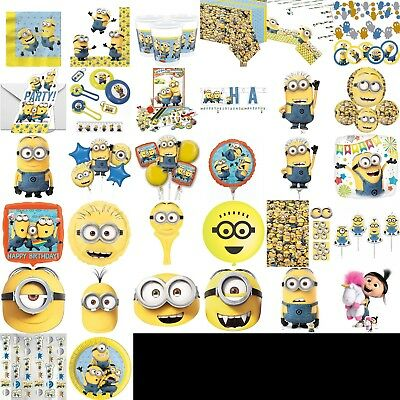 Despicable Me Birthday Party Decorations Table Wear Children BBQ Summer