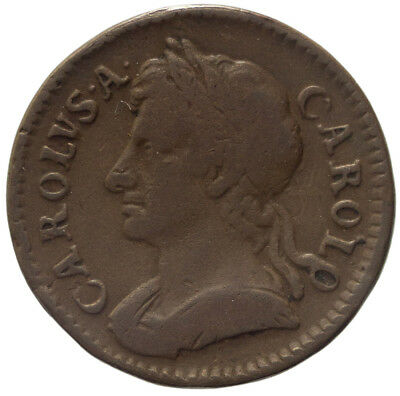Great Britain Farthing 1673 Charles II, VF-