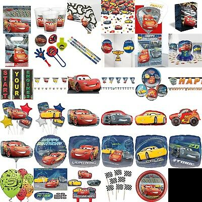 Disney Cars Birthday Party Decorations Table Wear Children Plates Cups Balloons
