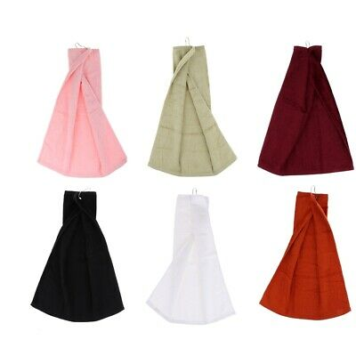 Cotton Golf Towel Quick Dry Gym Fitness Sports Towel with Metal Hanging Hook