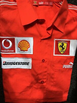 Ferrari Formula 1 Vodafone F1 racing team long sleeve shirt Size M Puma