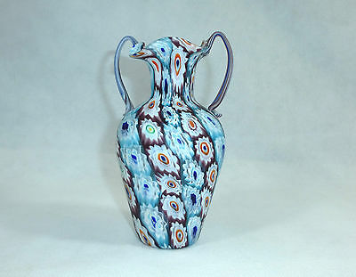 Unusual Large Vase Murano Italy Fratelli Toso 1920 Years