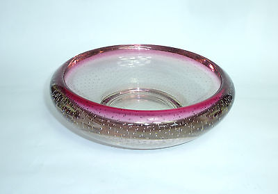 Extravagant Ashtray Murano Italy 1950er Years Lead Glass Over 2kg. B7