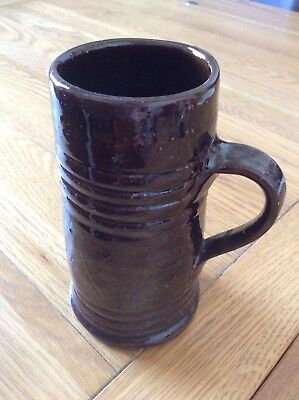 17th century Drinking Cup Brown Glazed Pottery reenactment cosplay history