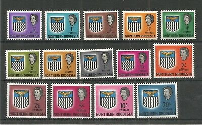 Northern Rhodesia 1963 Definitive Set Of 14 Sg,75-88 M/mint Lot 7622A