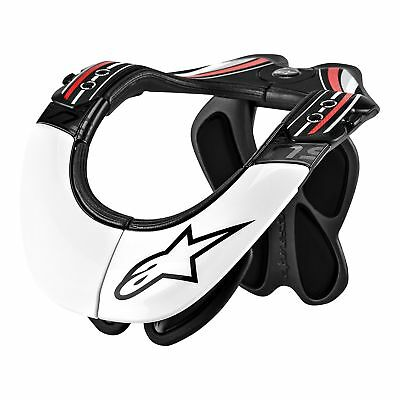 Alpinestars Bns Pro Black White Red Motorcycle Neck Support - Free Shipping!