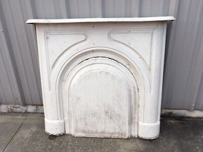 Antique Cast Iron Fireplace Mantle with Surround - Victorian Mansion