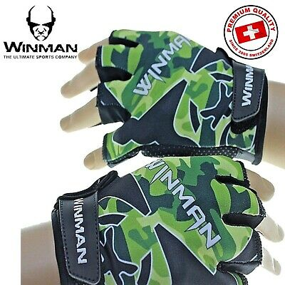 Weight Lifting Gloves Mens Gym Fitness Training Bodybuilding Workout Wrist Strap