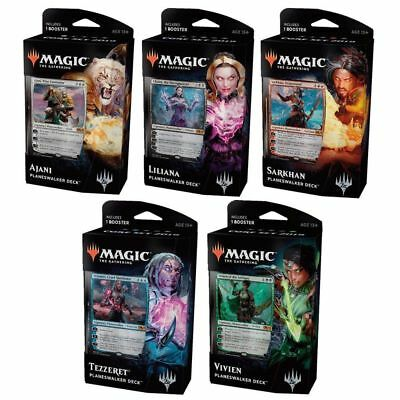 Magic The Gathering - Core 2019 Planeswalker - Set of 5