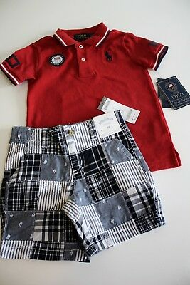 Ralph Lauren Polo Shirt Gymboree Shorts Size 3T USA Olympic Navy Retail $89
