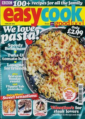 Bbc Easy Cook Magazine Issue February 2018 ~ New ~