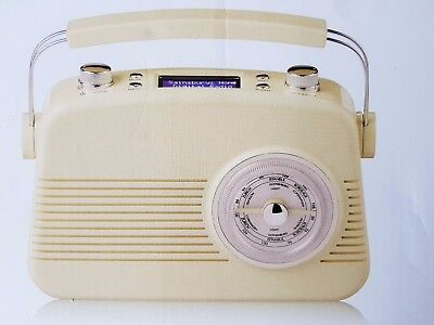 Cream Retro Vintage Fm Dab Analogue Tuner Radio