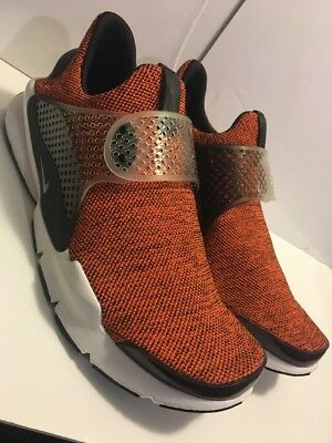 911404-801  NIKE SOCK DART SE TERRA ORANGE WHITE BLACK MEN SNEAKERS ... f3d15f19d6