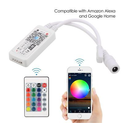 WiFi Wireless LED Smart Controller with Remote for LED RGB Light Strips 5-28V DC