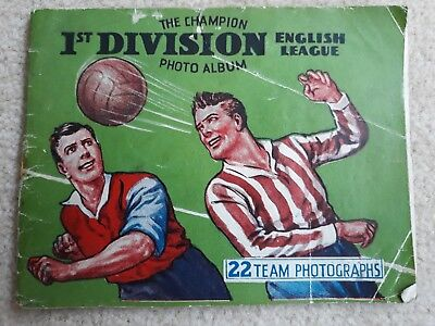 Vintage mid 1930's Ist Division league football Team Photo album