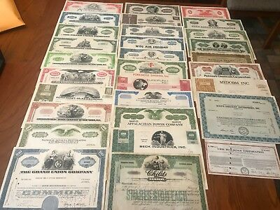 Assorted Lot of 30 stock and bond certificates Great for any collection