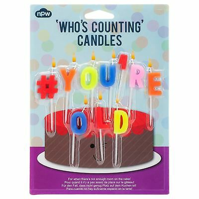 NPW #You'reOld Candles Pack of 10 - Pack of 6