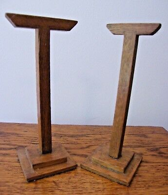 RECLAIMED 2 VINTAGE OAK WOODEN JEWELLERY SHOP DISPLAY STAND STANDS   j04