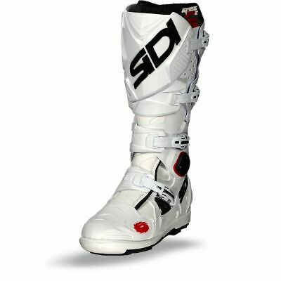 Sidi Crossfire 2 SRS White MX Motocross Motorcycle Boots - Free Shipping