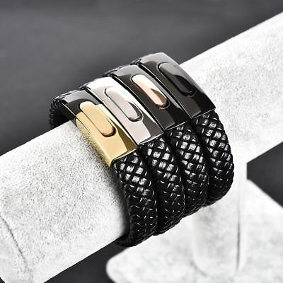 JYQ Men's Leather Bracelets Exquisite Popular Europe & America Bangle Wedding