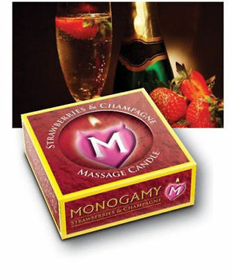 MONOGAMY MASSAGE CANDLE Turns into Oil ROMANTIC GIFT Scented UK SELLER Fast Post