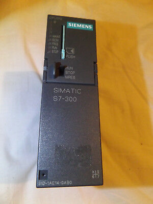 Siemens simatic s7-300 cpu: 6es7 312-1ae14-0ab0 with memory card