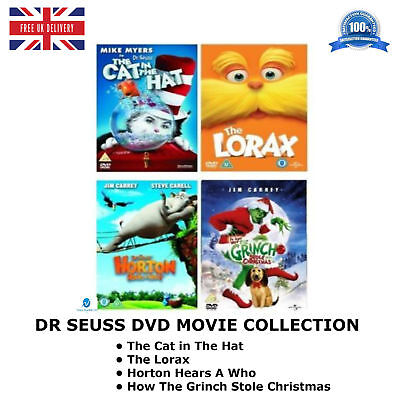 DR SEUSS - Cat In The Lorton Hears A Who Grinch - New and Sealed UK Region 2 DVD