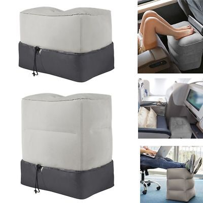 Inflatable Foot Rest Portable Travel Air Pillow Cushion Leg Up Footrest Relax