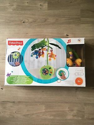 Fisher Price Rainforest Peek A Boo Leaves Musical Cot Mobile With Remote Control