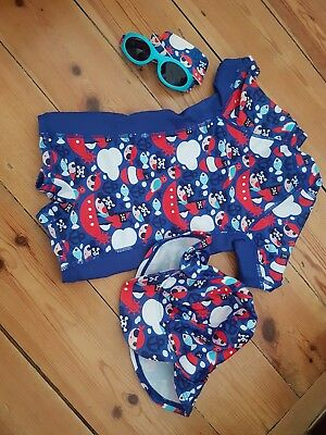 Mothercare baby boy pirate sunsafe, swimsuit/hat and sunglasses age 6-12 months