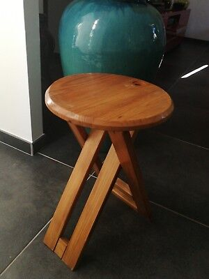 Roger TALLON tabouret pliant vintage perriand