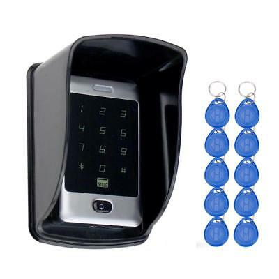 Rfid Access Control Touch Metal Keypad With Waterproof/rainproof Cover 10 Keych