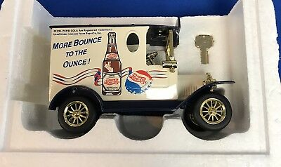 """Pepsi Cola """"more Bounce To The Ounce"""" Golden Wheel Diecast Bank"""