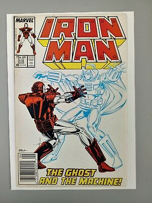IRON MAN #219 1st appearance GHOST villain in Ant Man & Wasp movie NEWSTAND!!