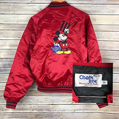 Vintage Disney Silver Screen III Red Mickey Mouse Jacket Rare Varsity Collectors