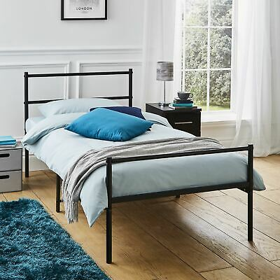3ft Single Metal Bed Frame In Black Strong Bedroom Beadstead For Adult Child