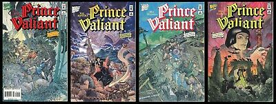 Hal Foster's Prince Valiant Marvel Comic Set 1-2-3-4 In the Days of King Arthur
